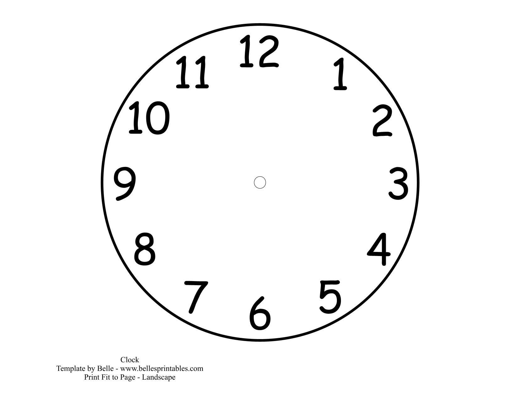 Clock Picture Printables