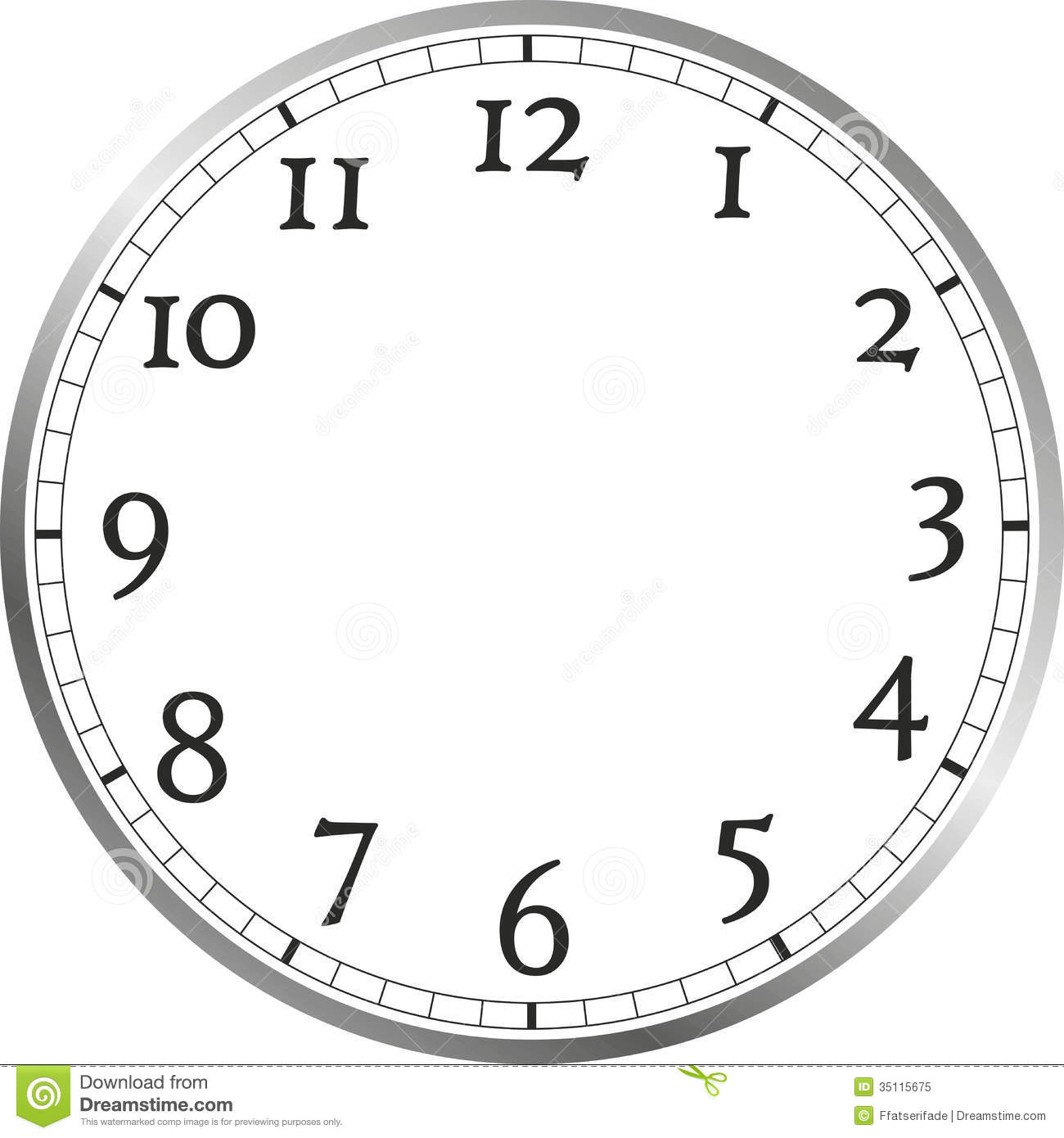 Free Clip Art Picture Of A Clock Face Without Hands