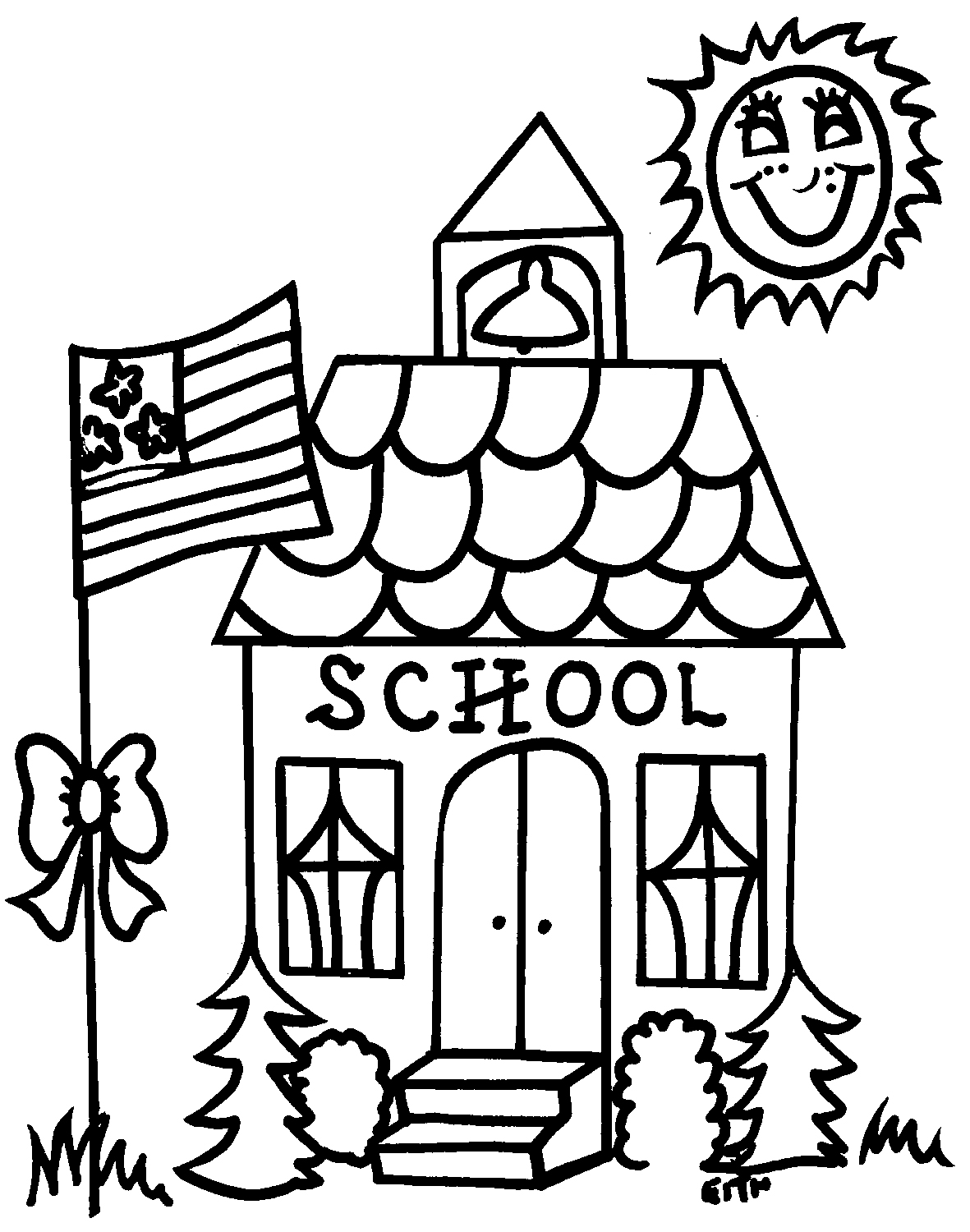 Free School House Outline Download Free Clip Art Free Clip Art On Clipart Library