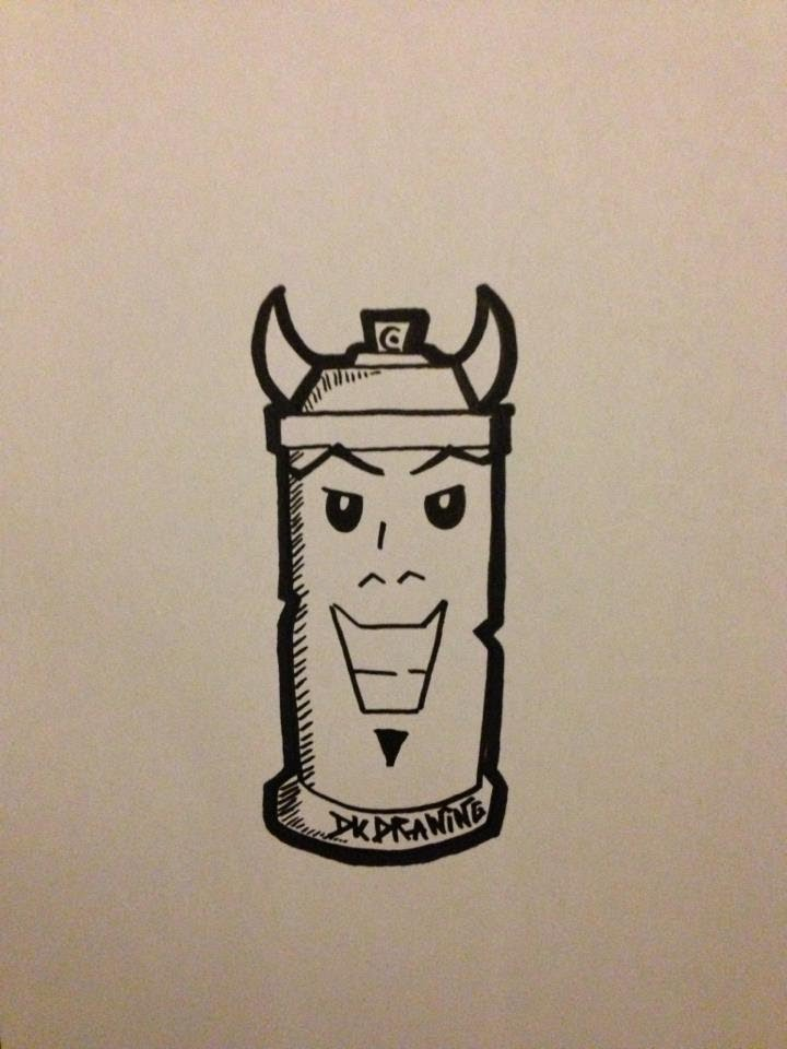 How To Draw Graffiti Characters Spraycan Bull YouTube