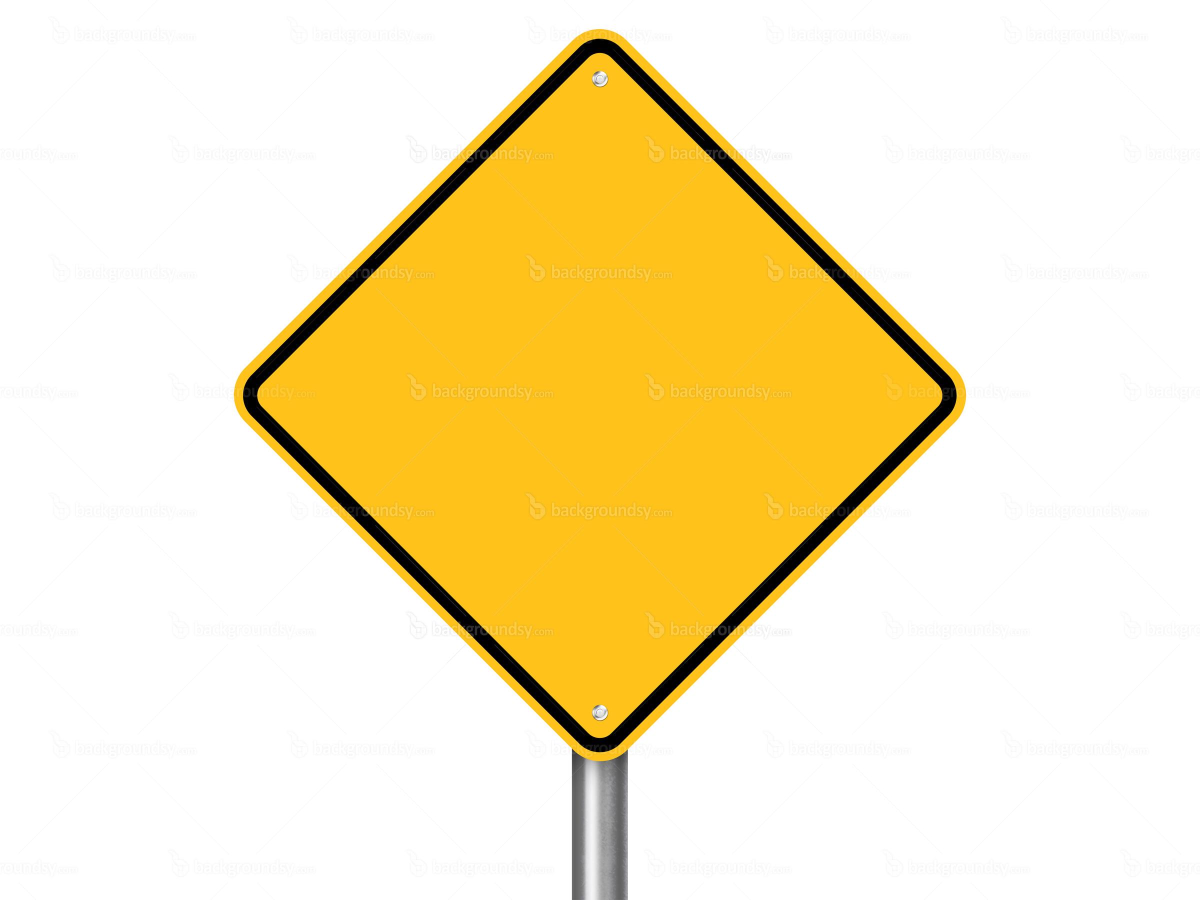 Plain Yellow Street Sign