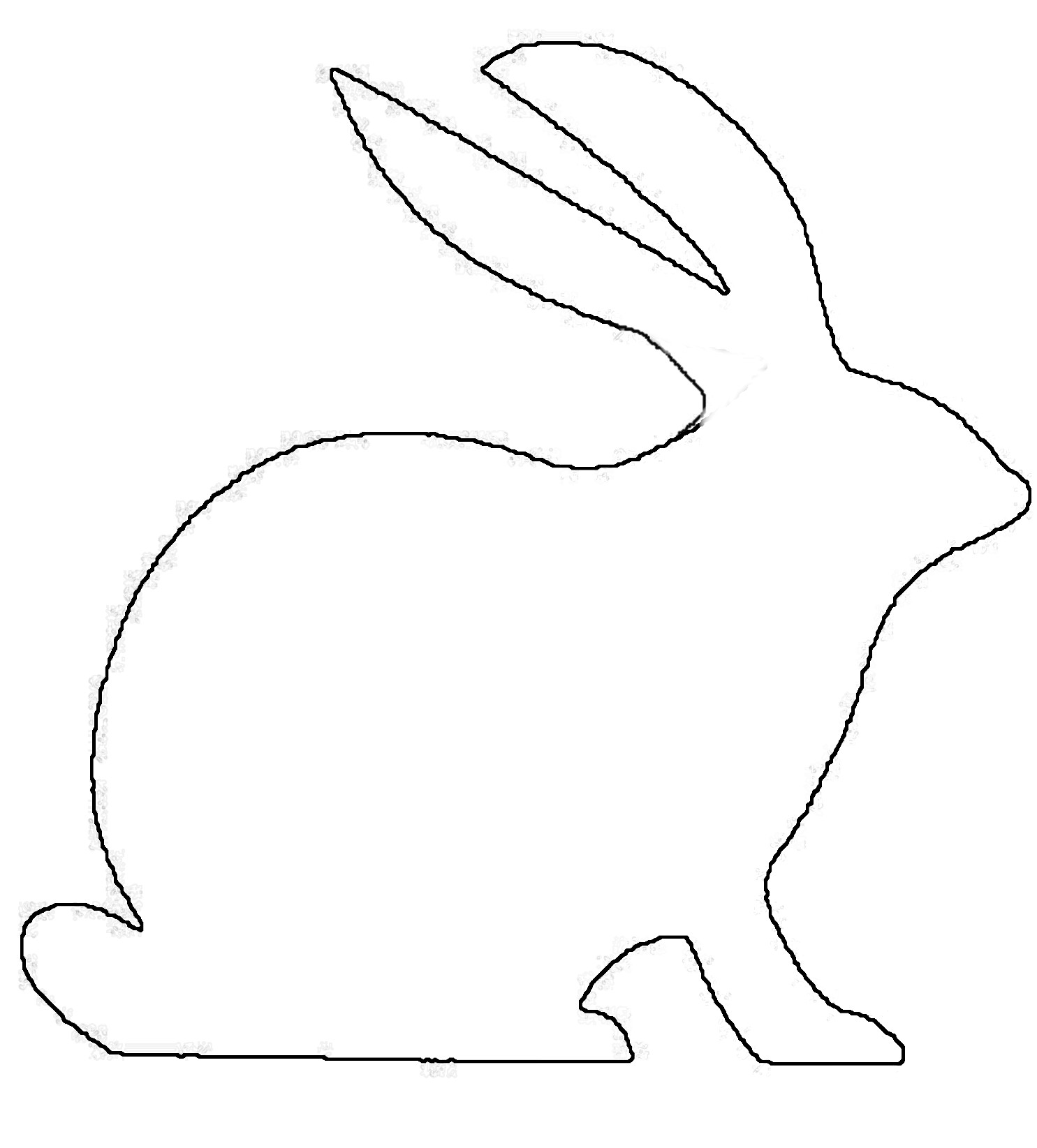 Free Bunny Outline Download Free Clip Art Free Clip Art