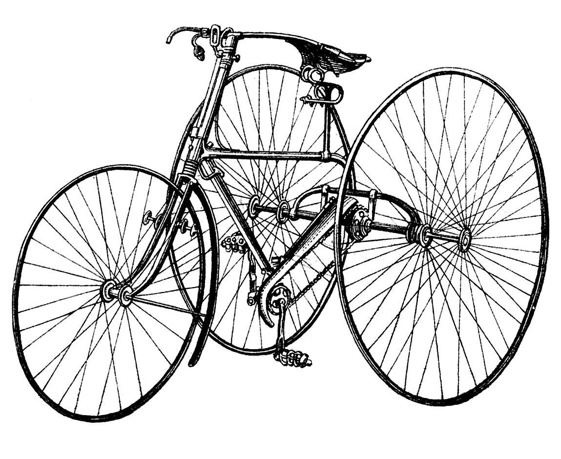 Free Vintage Bicycle Cliparts Download Free Clip Art