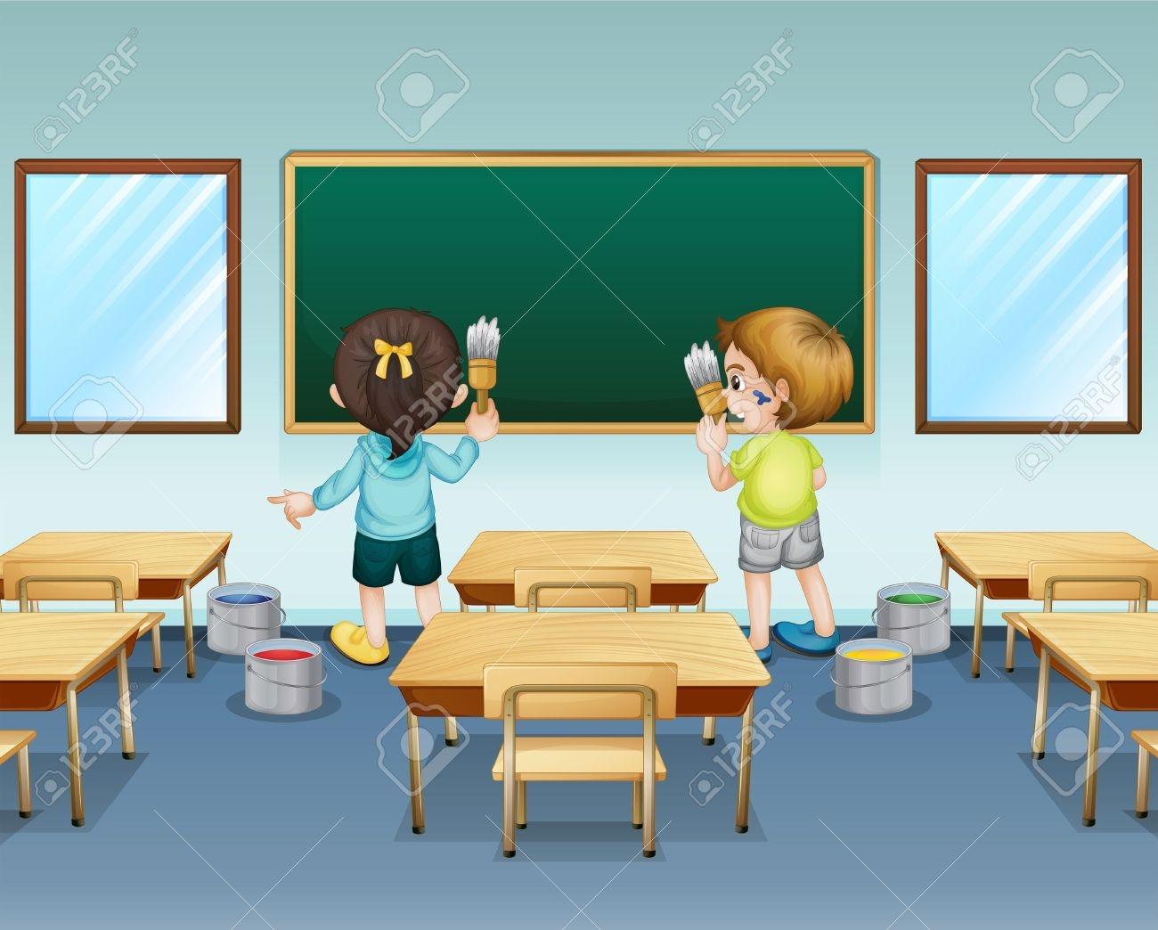 Clean Classroom Clipart