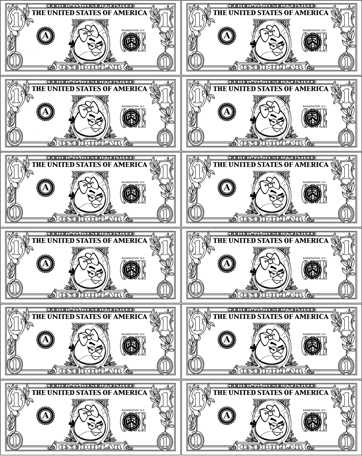 Free Printable Play Money Black And White Download Free