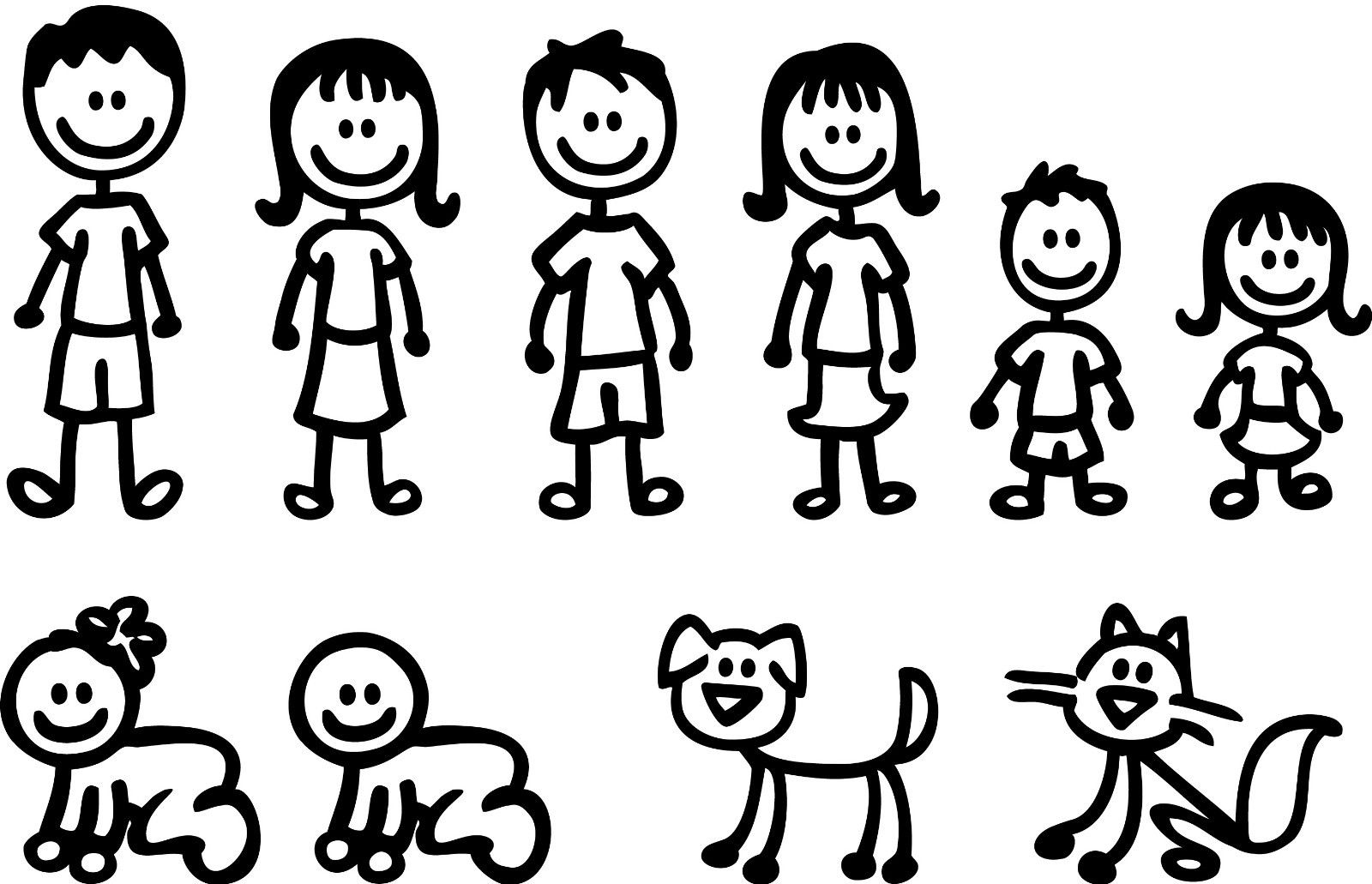 Family Clipart 6 Stick People