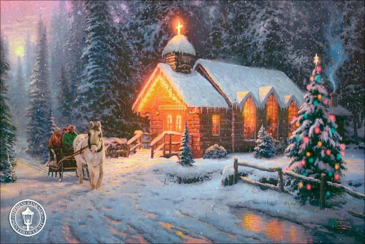 Free Thomas Kinkade Christmas Clipart Clip Art Library