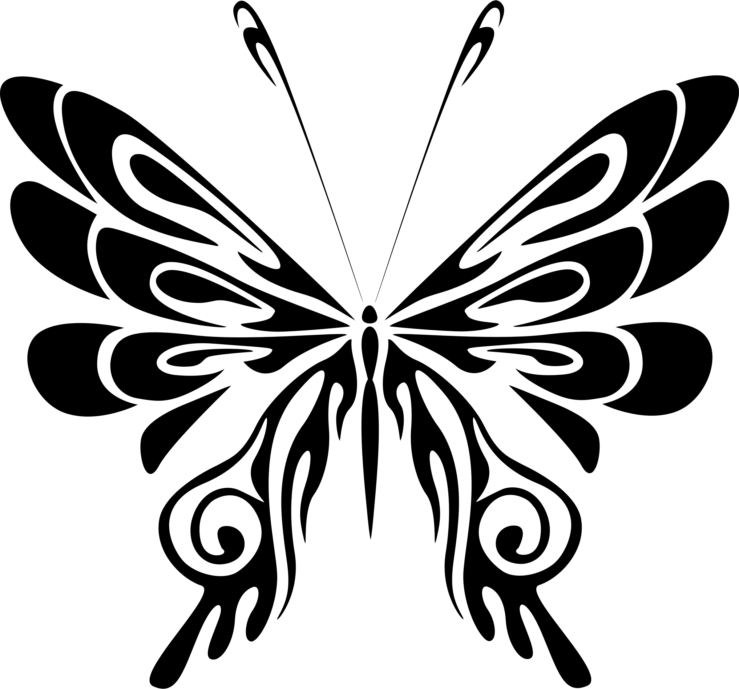 Free Tribal Butterfly Cliparts Download Free Clip Art