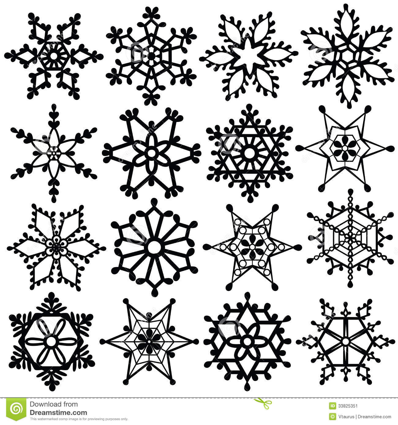 Clipart Snowflake Black And White