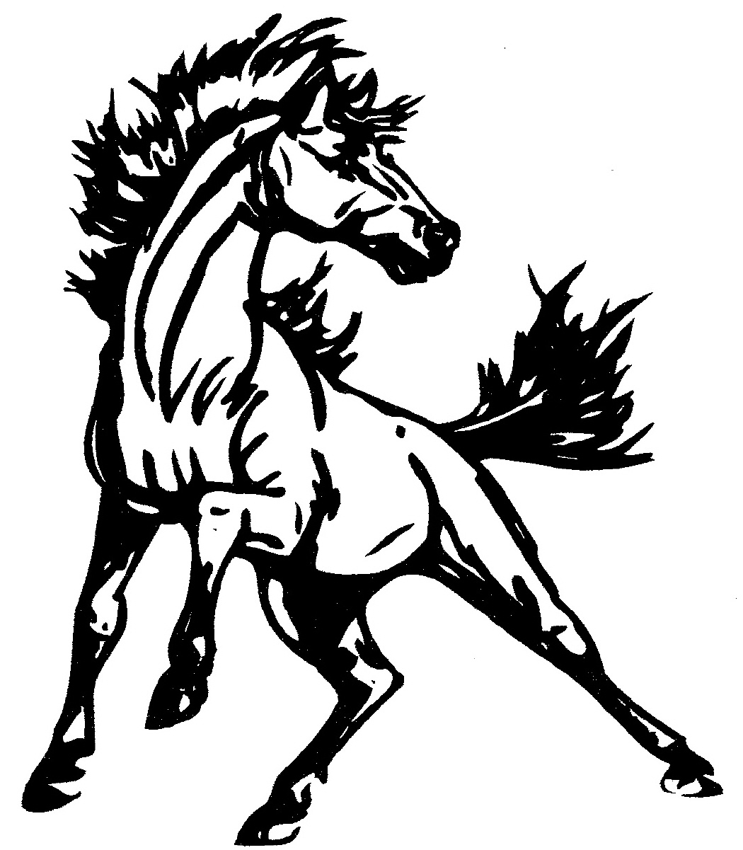 Mustang Horse Clip Art Clipart Free Download