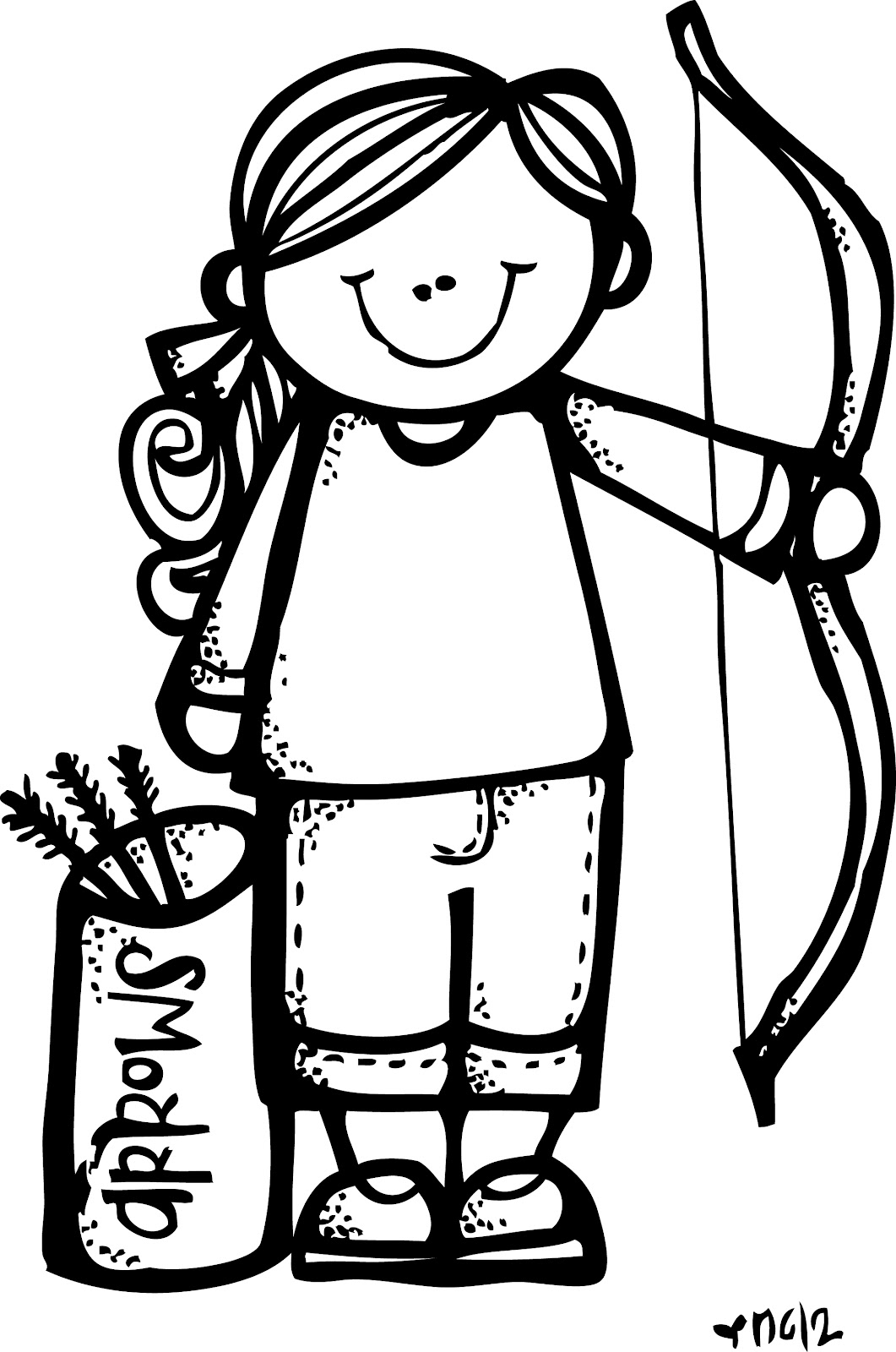 Free Archery Cliparts Girl Download Free Clip Art Free