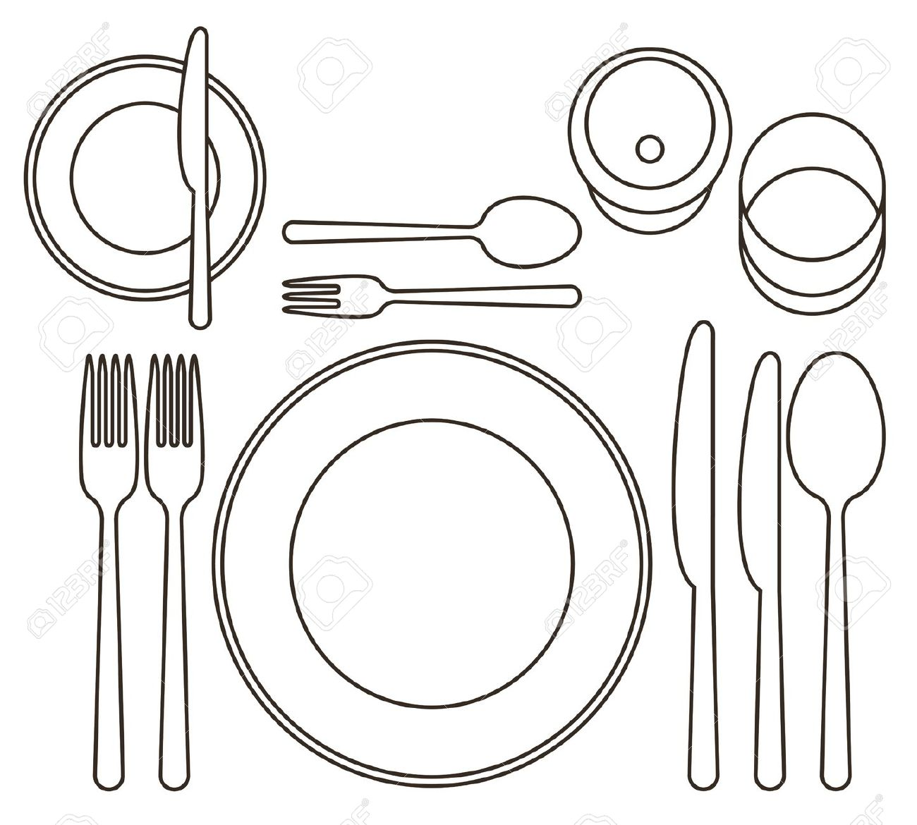 Free Dinner Setting Cliparts Download Free Clip Art Free