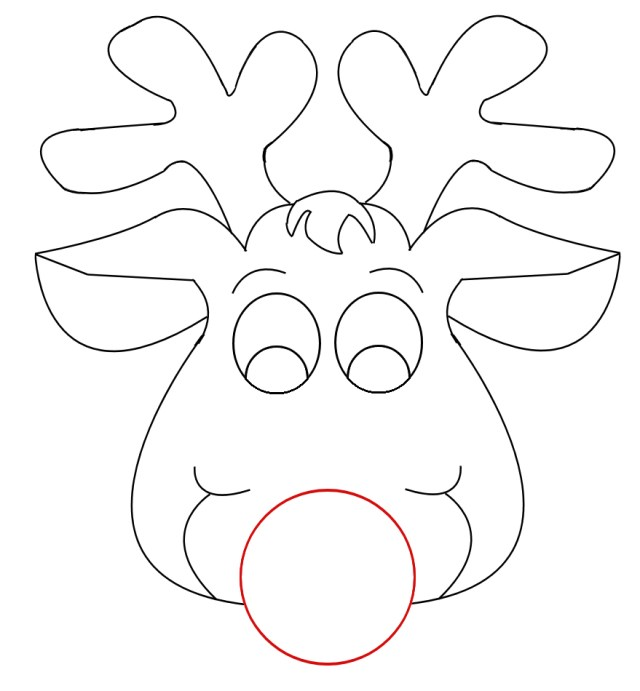 Free Rudolph Outline Cliparts, Download Free Rudolph Outline
