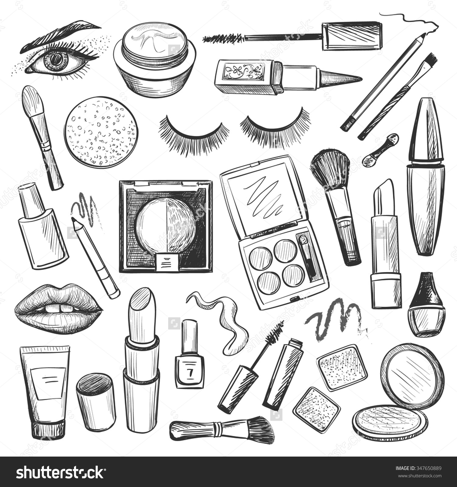 Eye Makeup Clipart Black And White