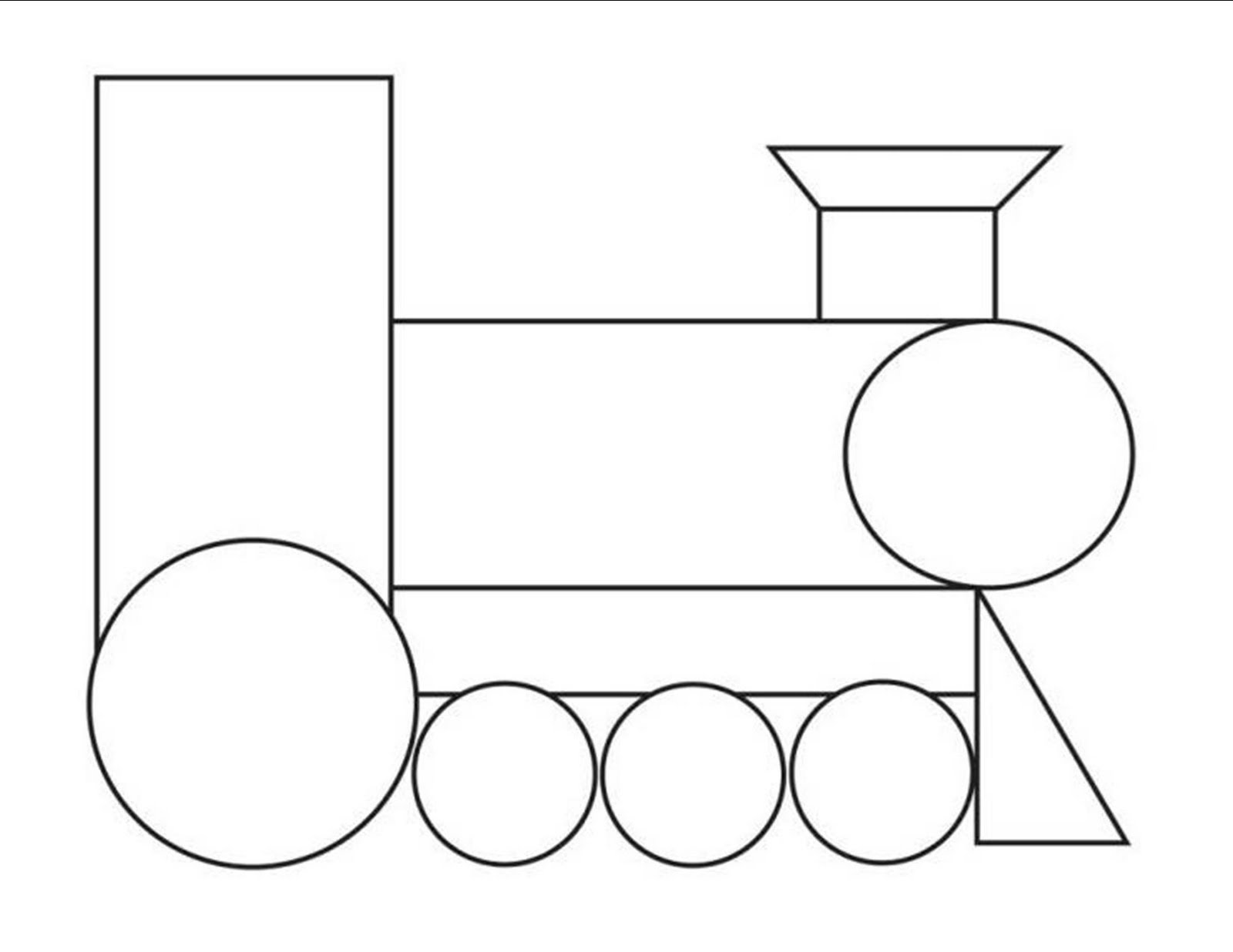 Shapes Train Clipart For Kids