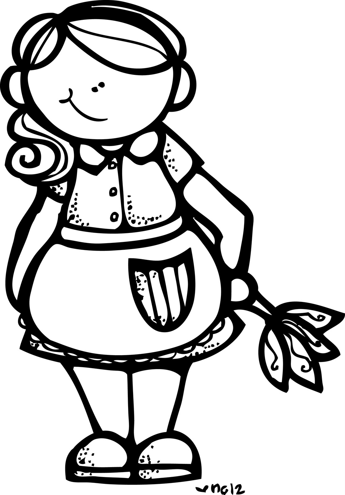 Housekeeping Clipart Black And White