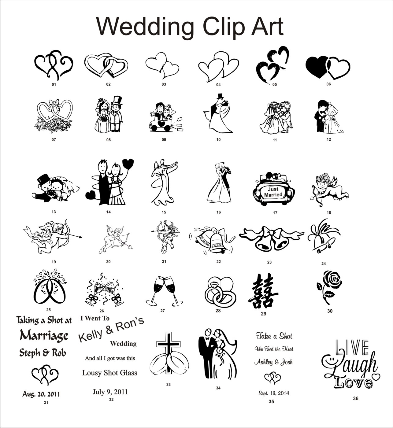 Wedding Reception Clipart