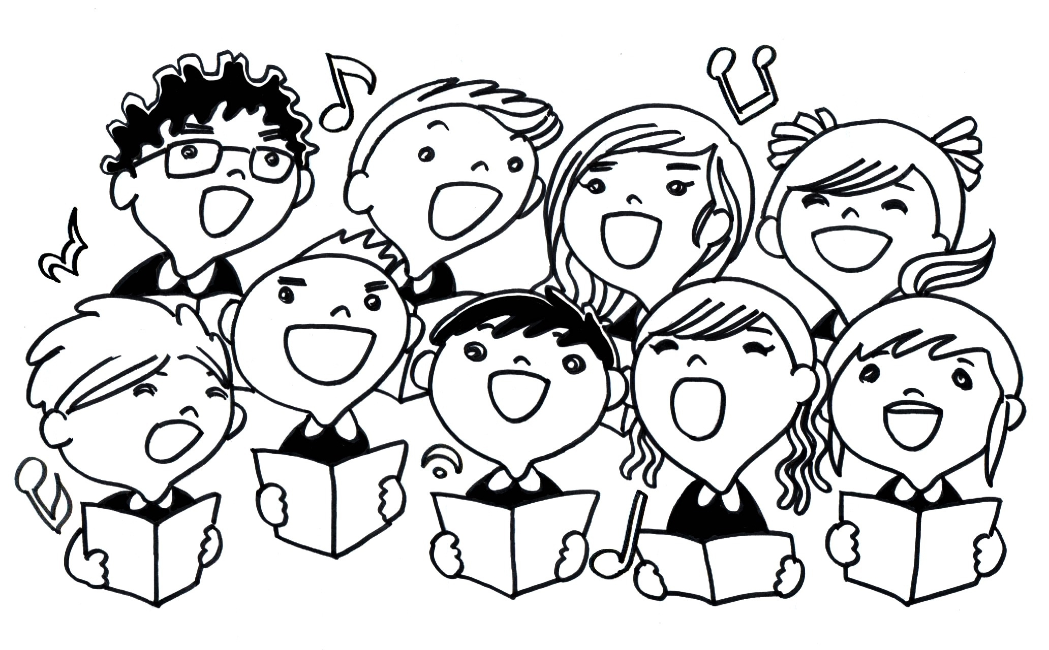 Free Choir Singers Cliparts Download Free Clip Art Free