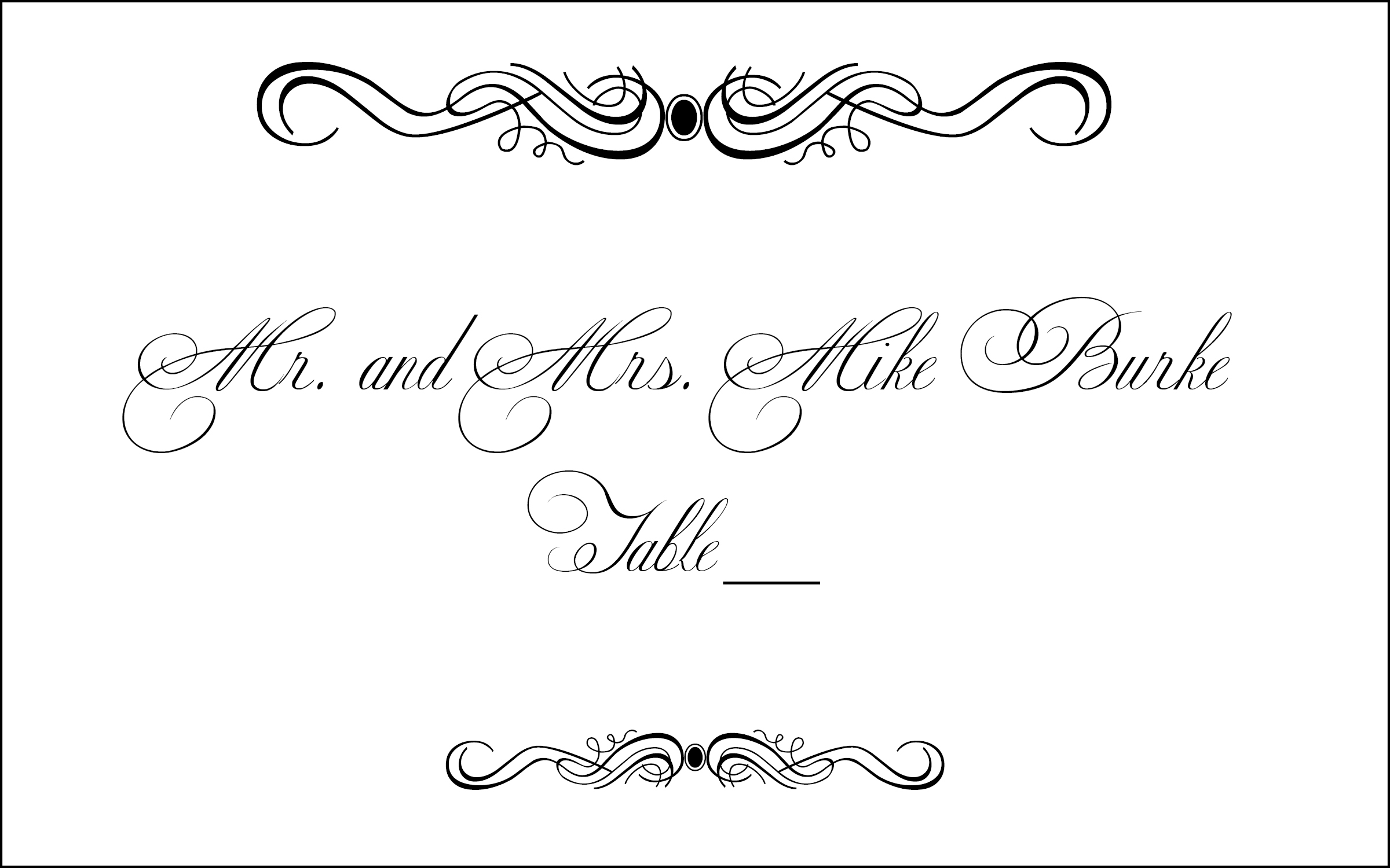 Free Wedding Clipart For Place Cards