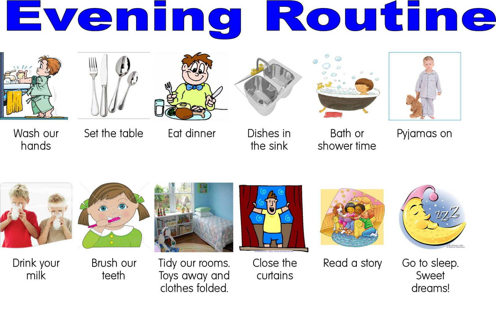 Free Evening Routine Cliparts Download Free Clip Art Free Clip Art On Clipart Library