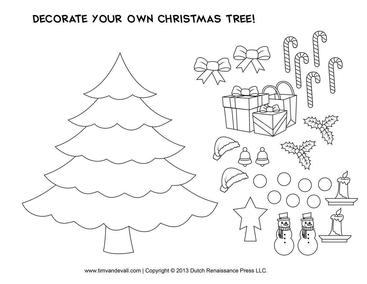 Christmas Tree Craft Templates