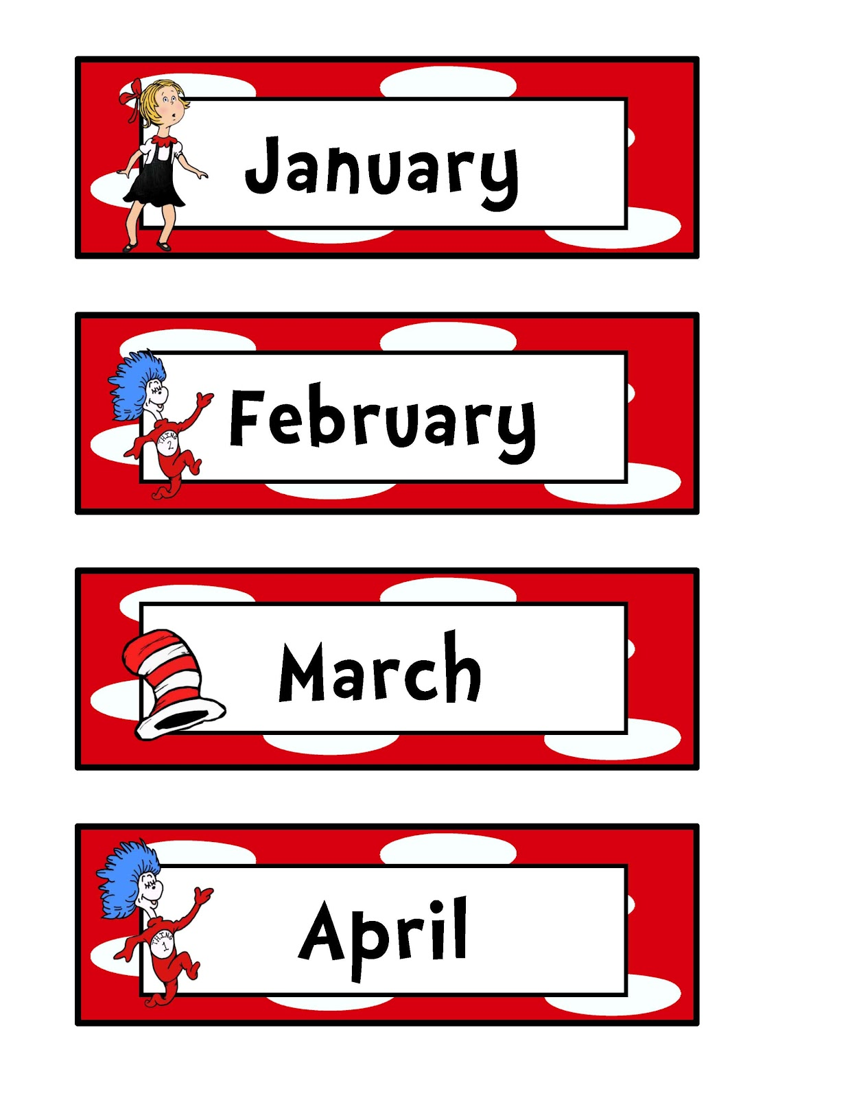 Months Of The Year Preschool Clipart