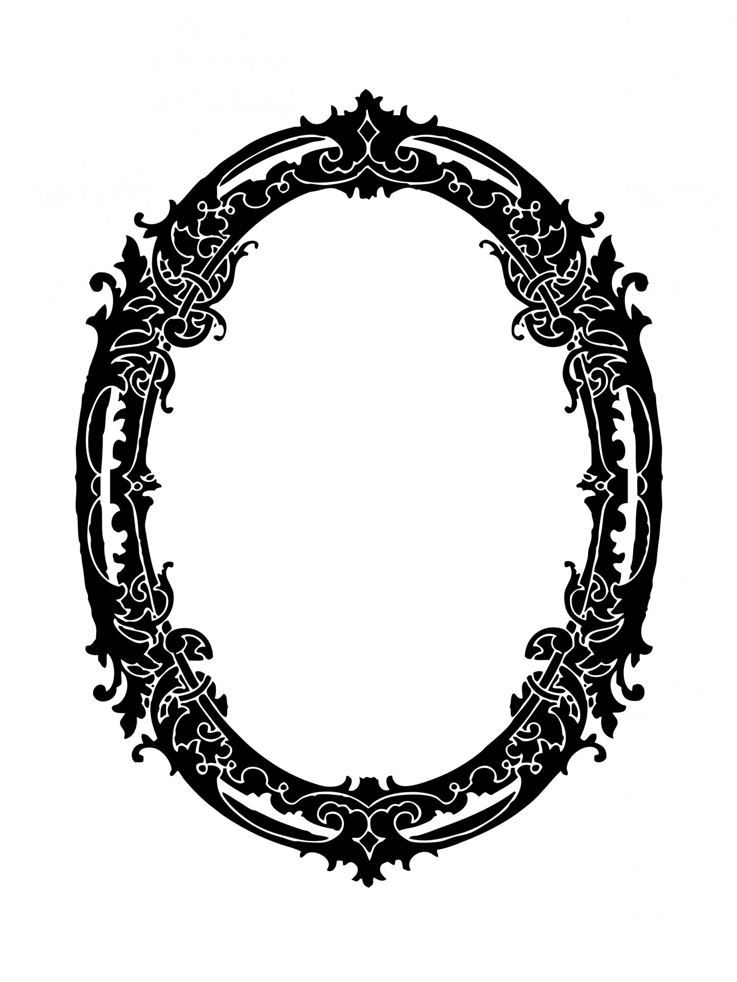 Oval Frame Decorative Clipart Free Stock Photo