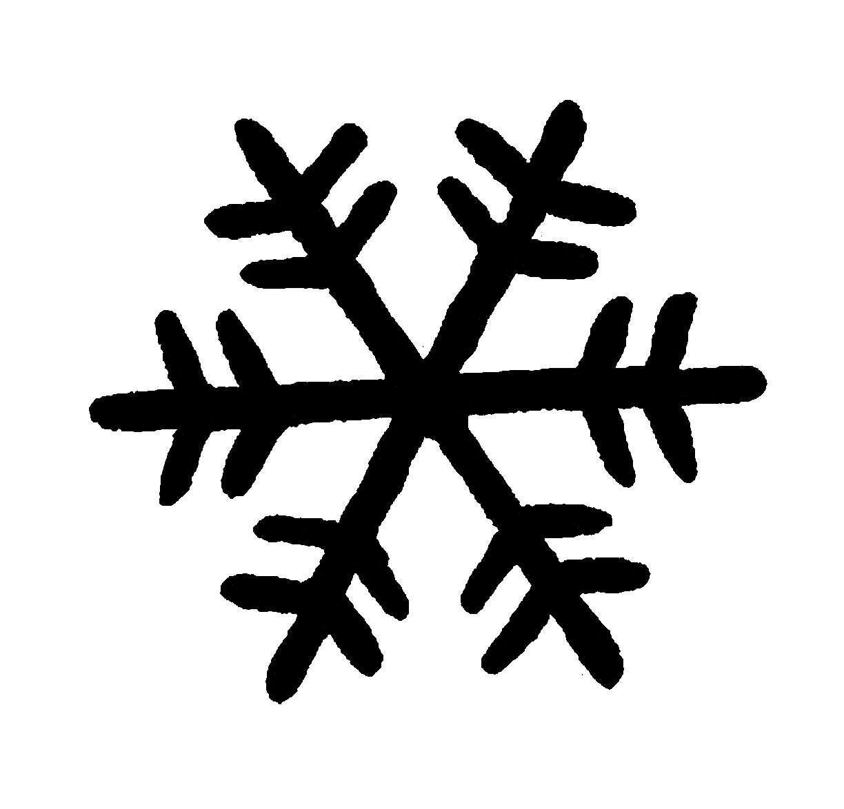 Silhouette Clipart Snow Flake