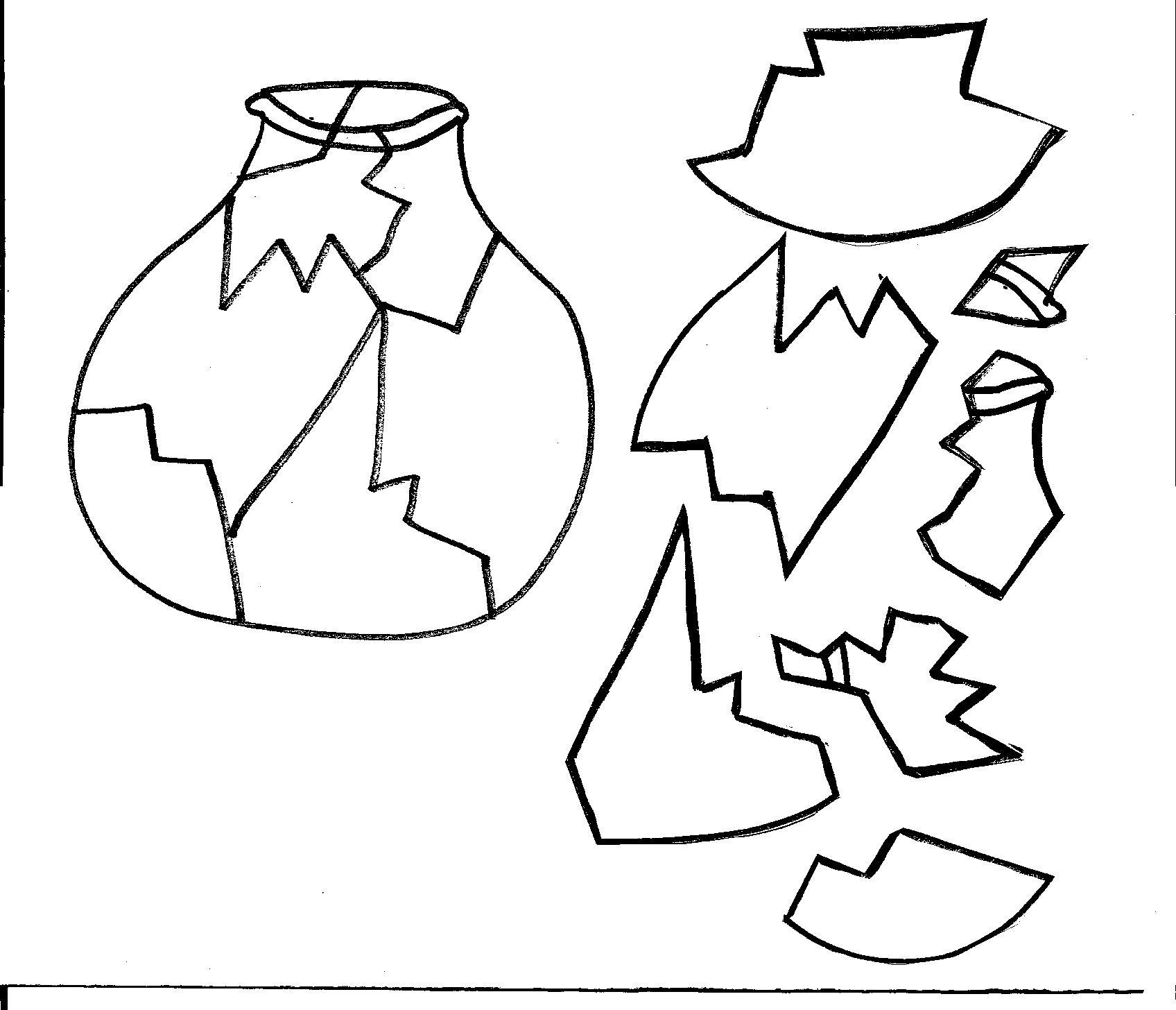 Broken Pottery Vase Clipart