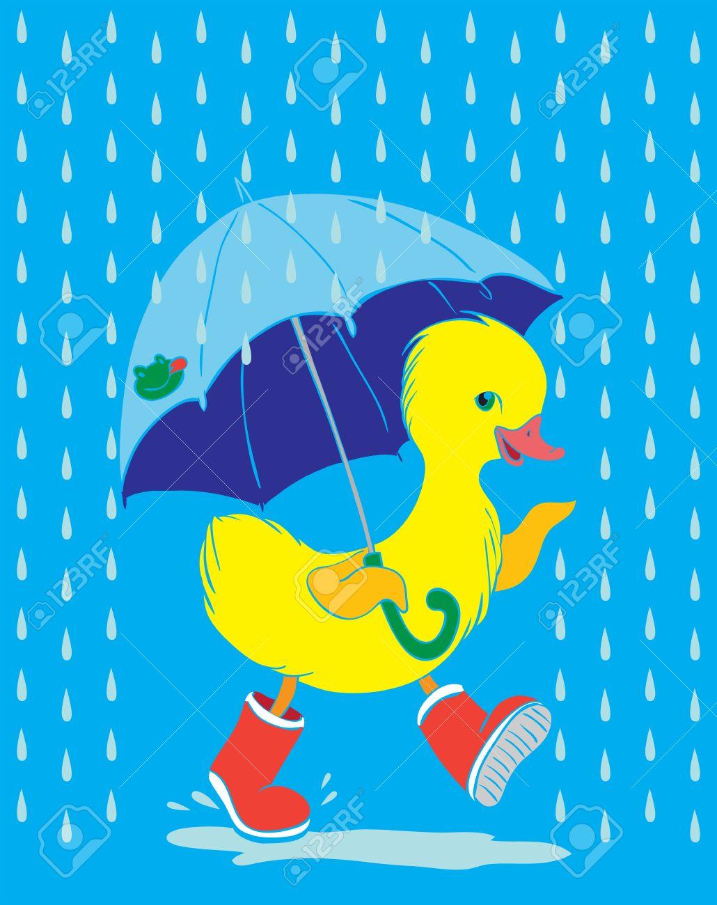 Download Duck in wellies clipart
