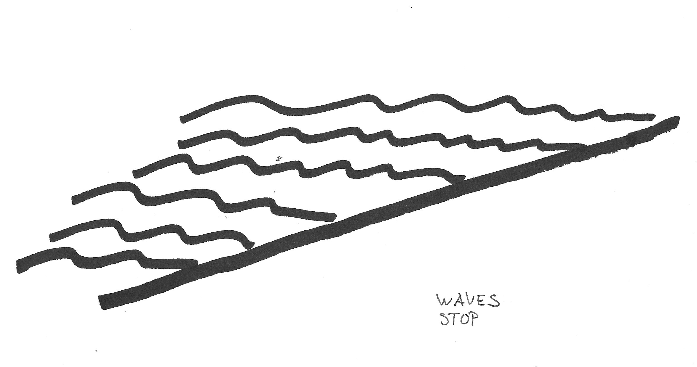 Ocean Waves Clipart Black And White