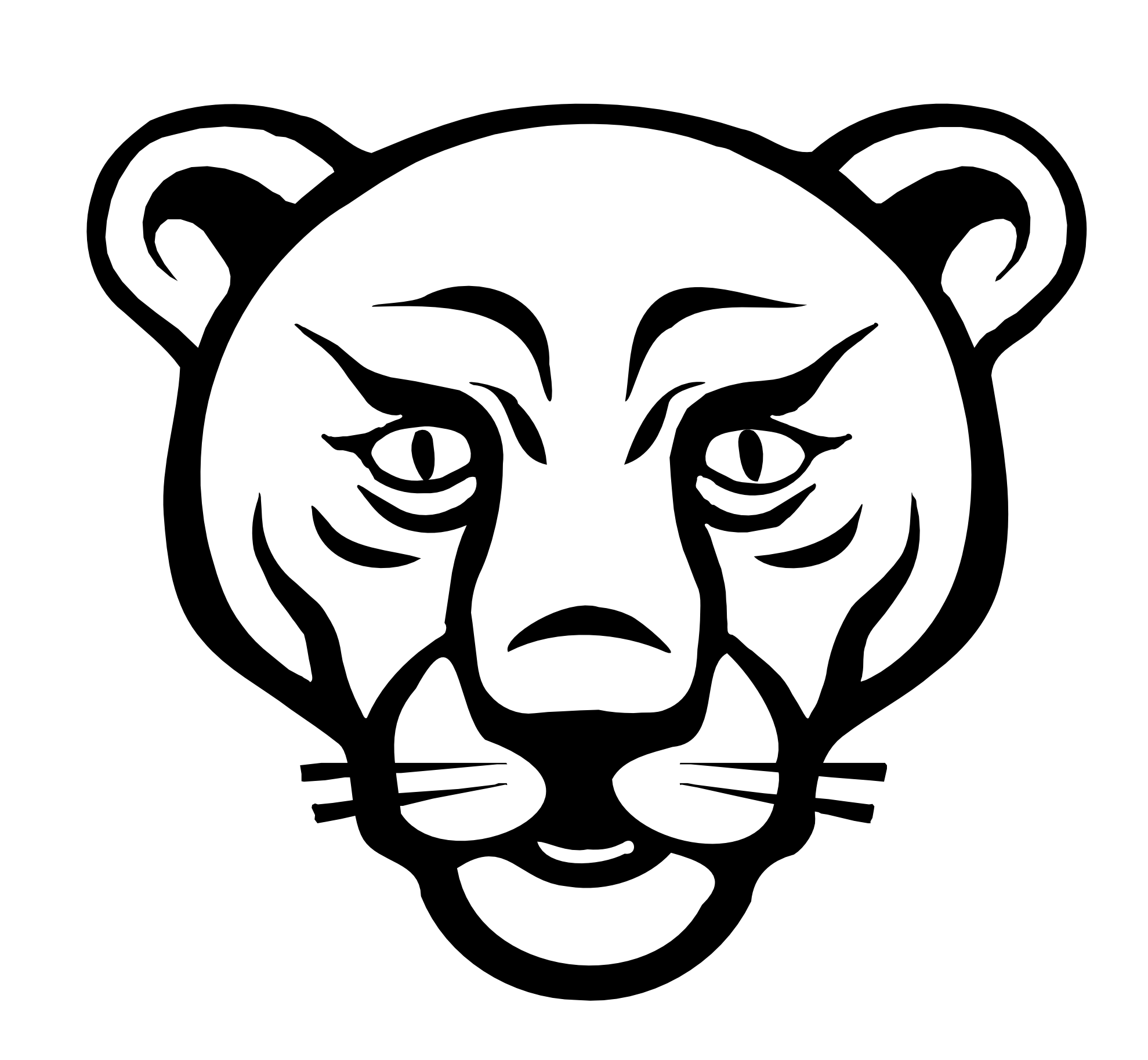 Lion Face Drawing Clipart