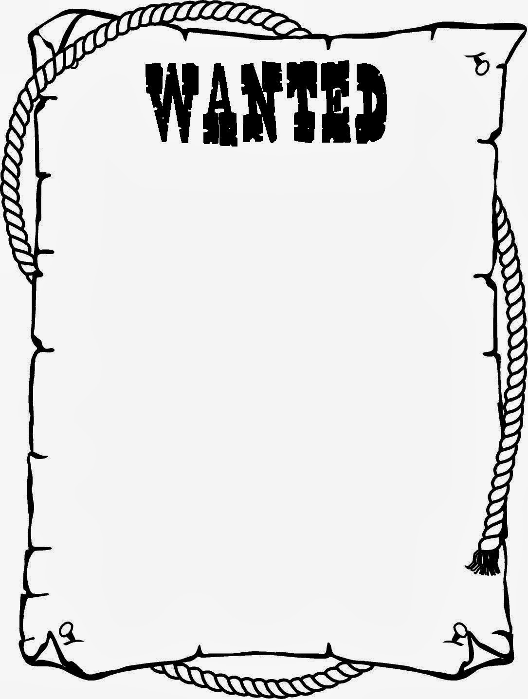 Cute Face On Wanted Poster Clipart