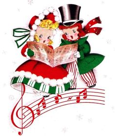 Victorian Christmas Carolers Clipart Happy Holidays