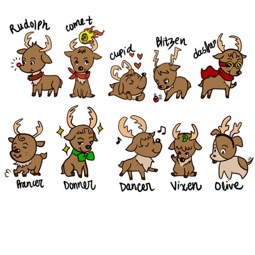 Free Olive Reindeer Cliparts Download Free Clip Art Free