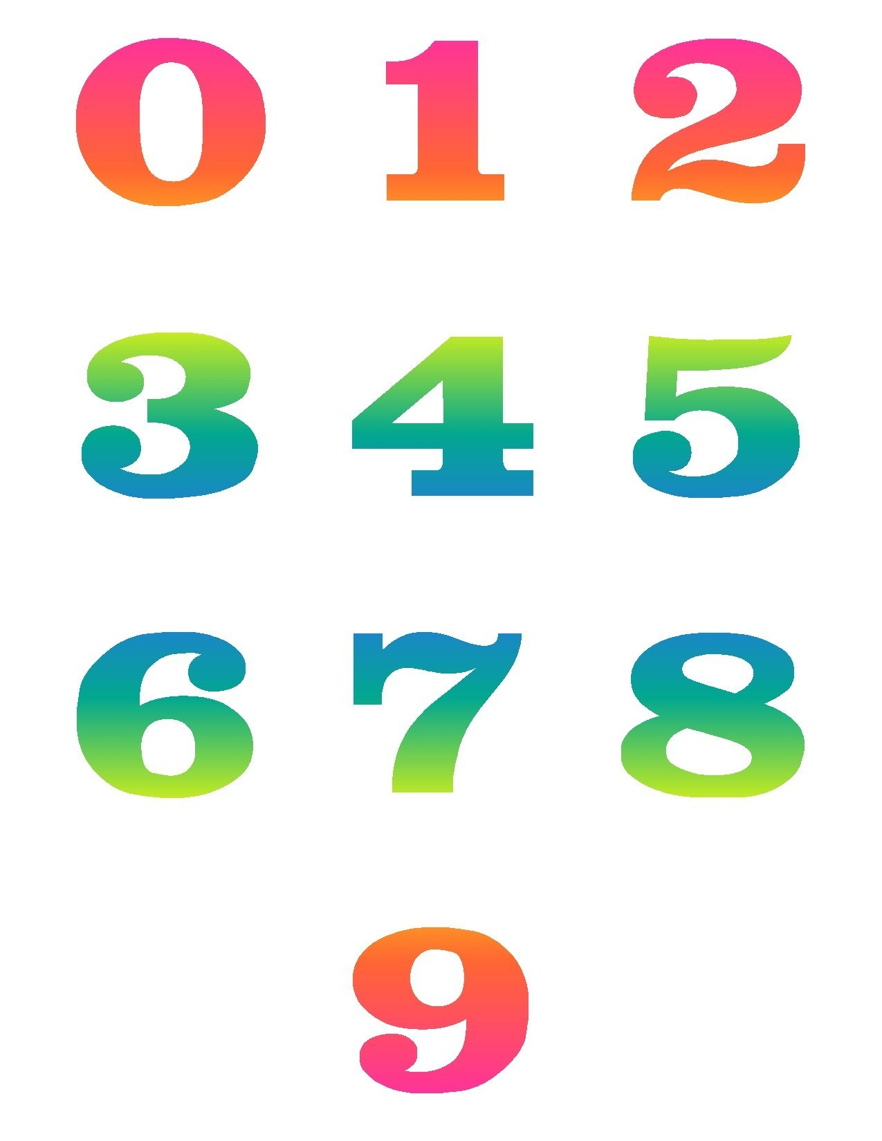 Number Names Worksheets Pictures Of Numbers 1