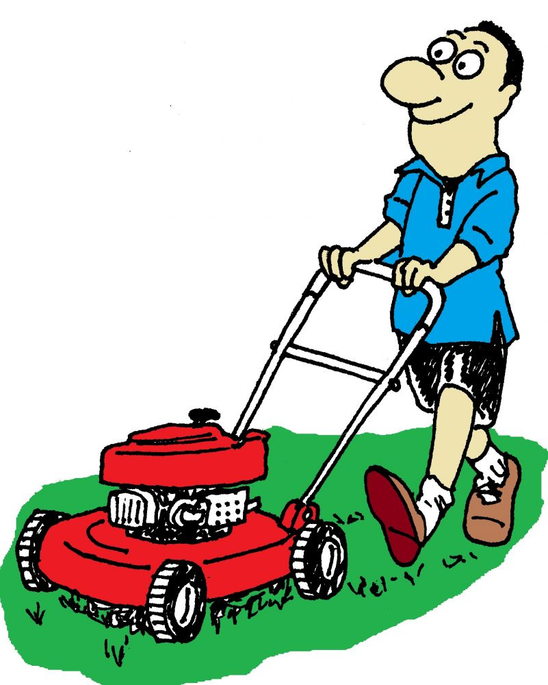 Image result for free images of mowing the lawn