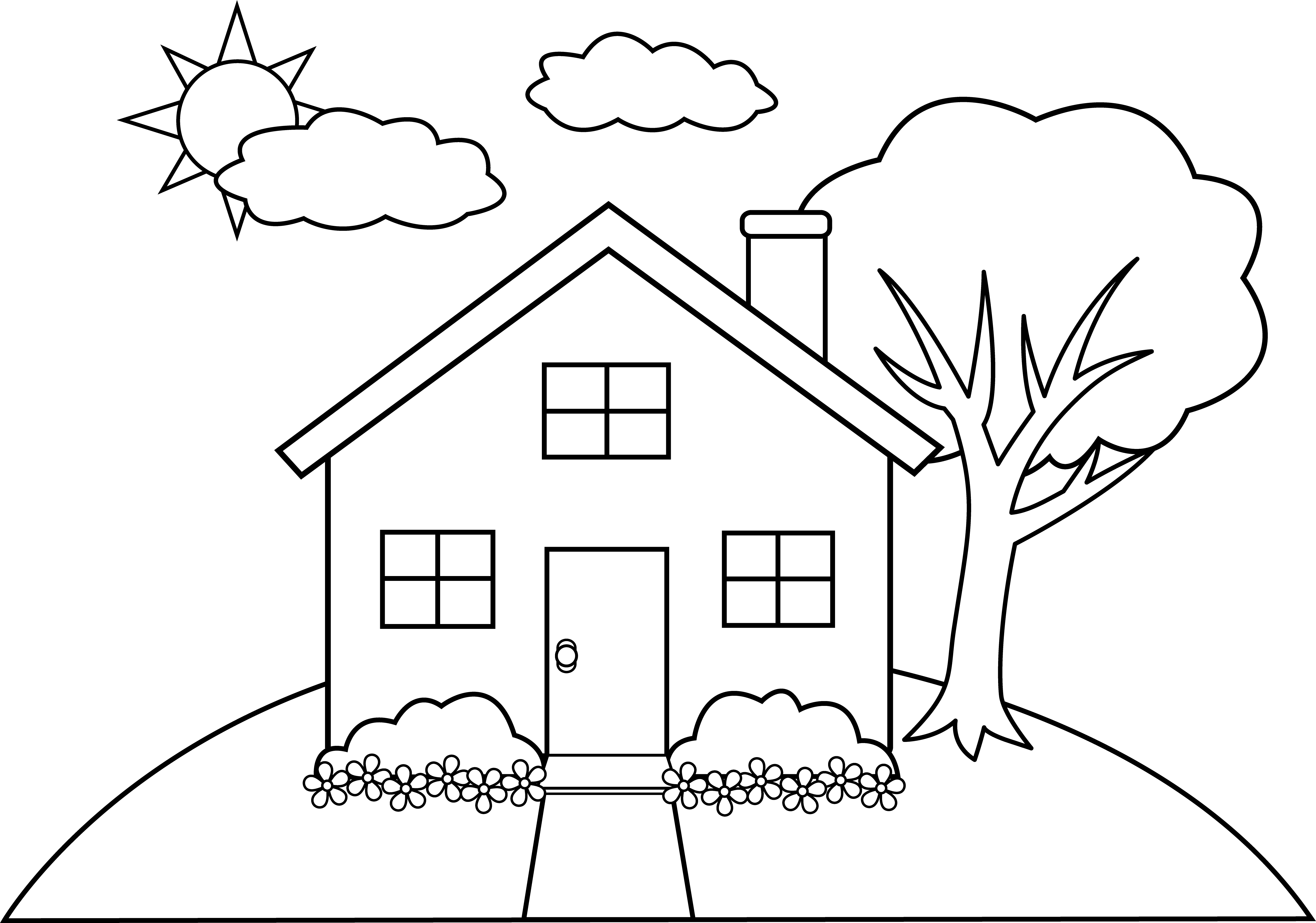 Free House Line Cliparts Download Free Clip Art Free
