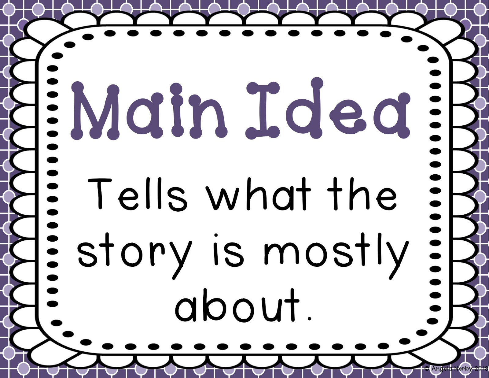 Main Idea First Grade