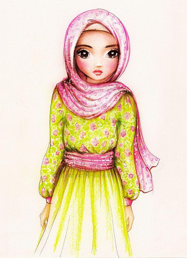 Hijab Cartoon Pictures Islamic Girl