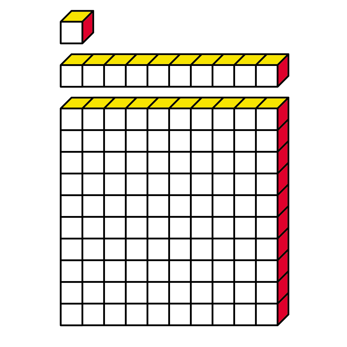 Base Ten Blocks Clipart