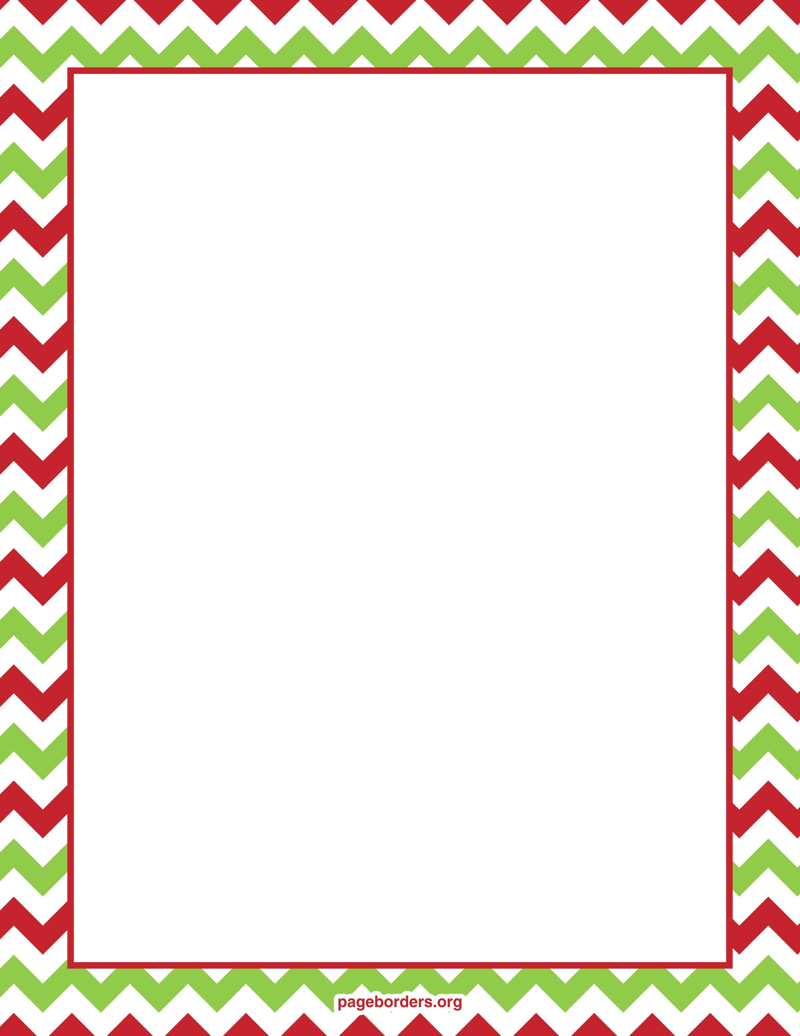 Free Printable Christmas Border Clipart