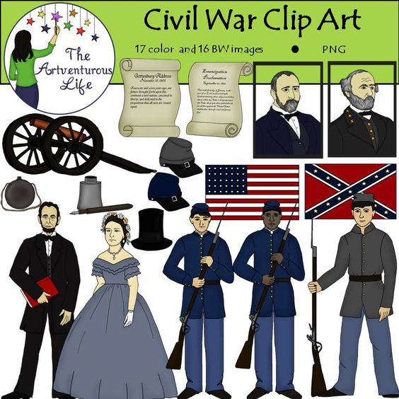 Civil Clip Art Flag War Union
