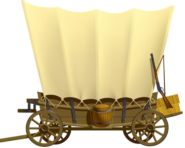 Covered Wagon Clip Art Borders