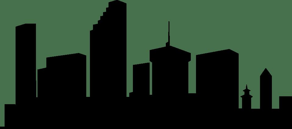 Black And White Simple Silhouette Cartoon York New Skyline
