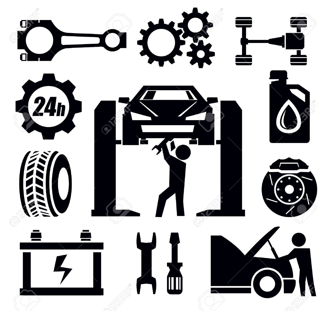 Free Black Mechanic Cliparts Download Free Clip Art Free