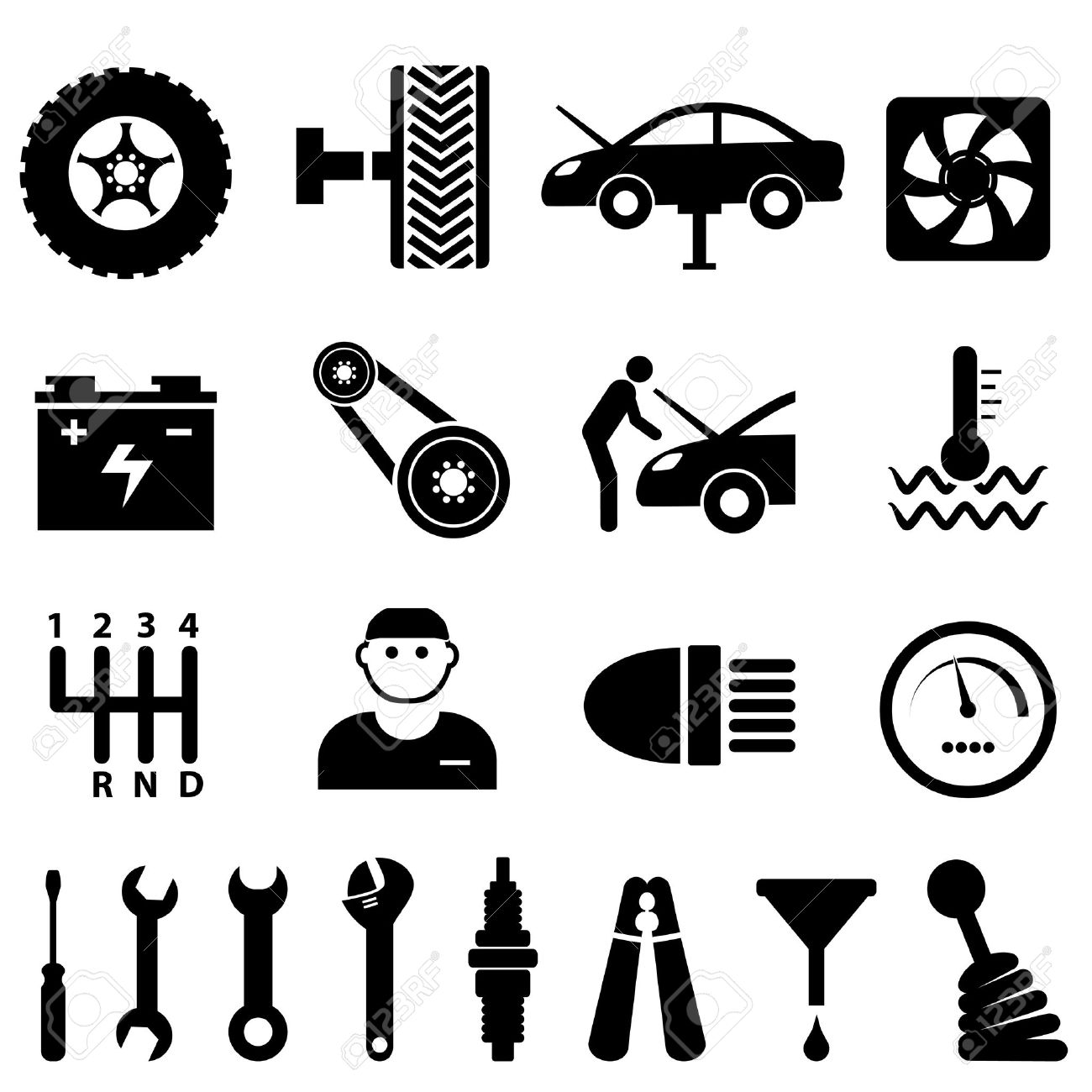 Free Black Mechanic Cliparts Download Free Clip Art Free