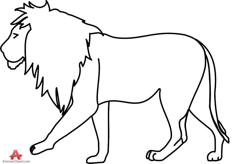 Free Lion Outline Cliparts Download Free Clip Art Free Clip Art On Clipart Library