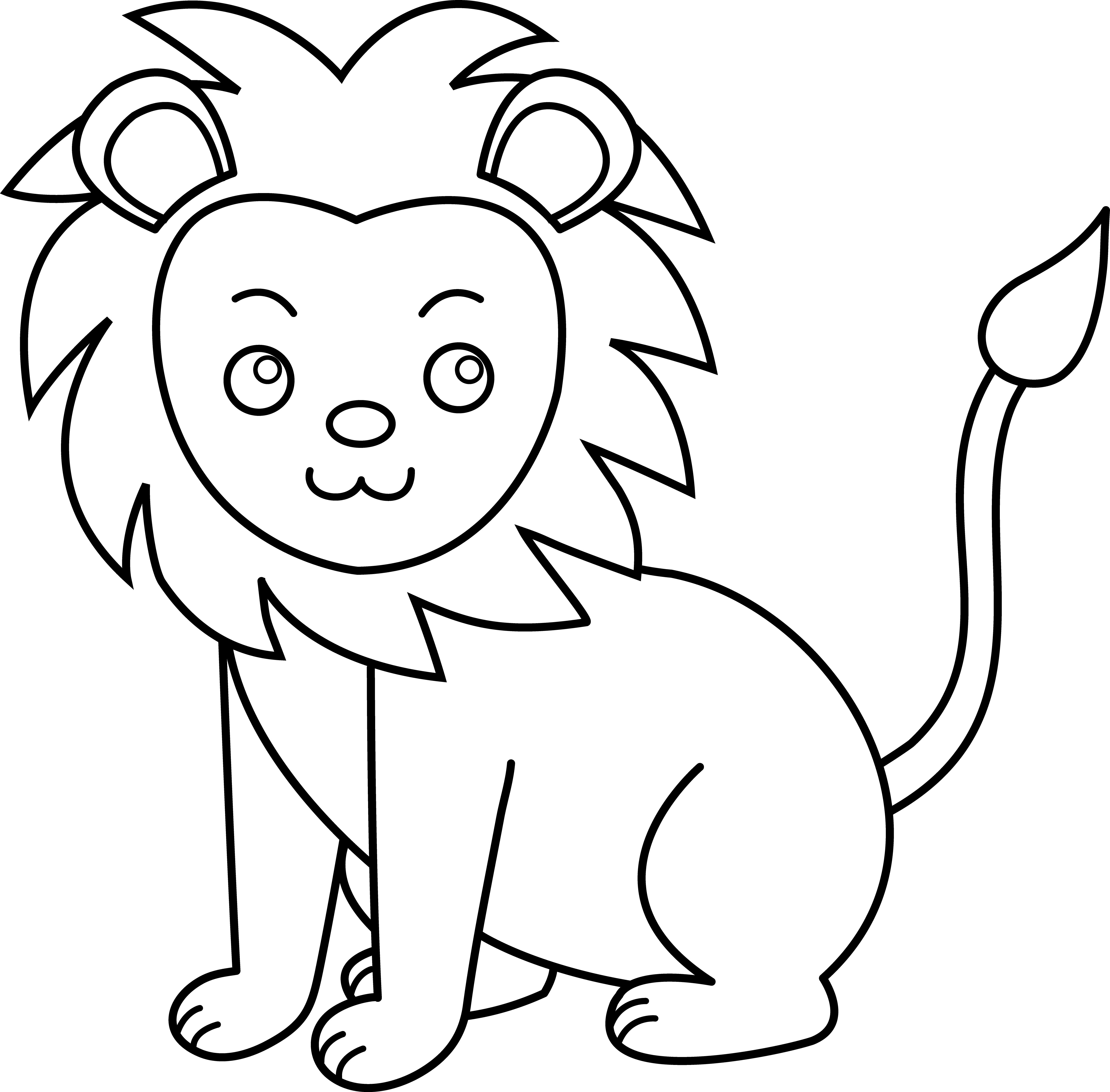 Lion Clipart Outline Clipart Free Download