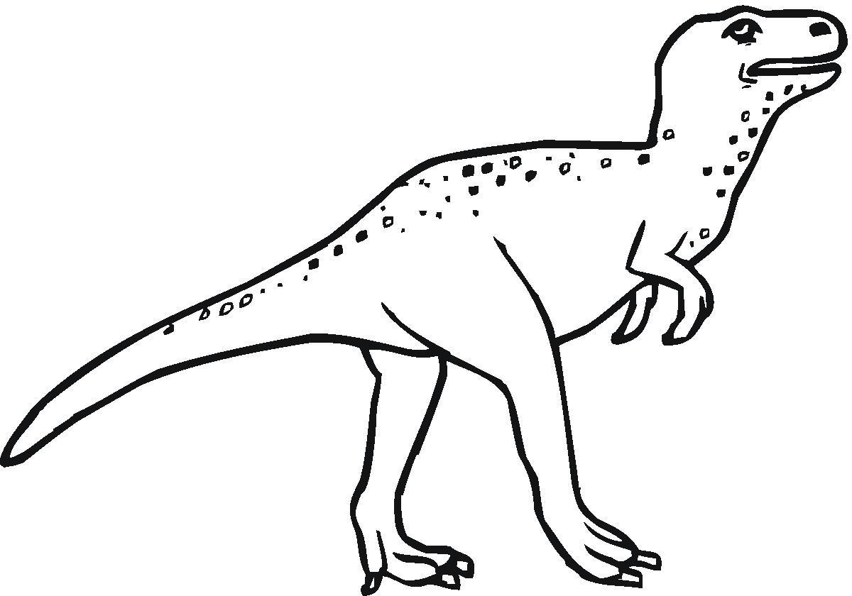 Clipart Dinosaur Black And White